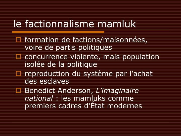 le factionnalisme mamluk