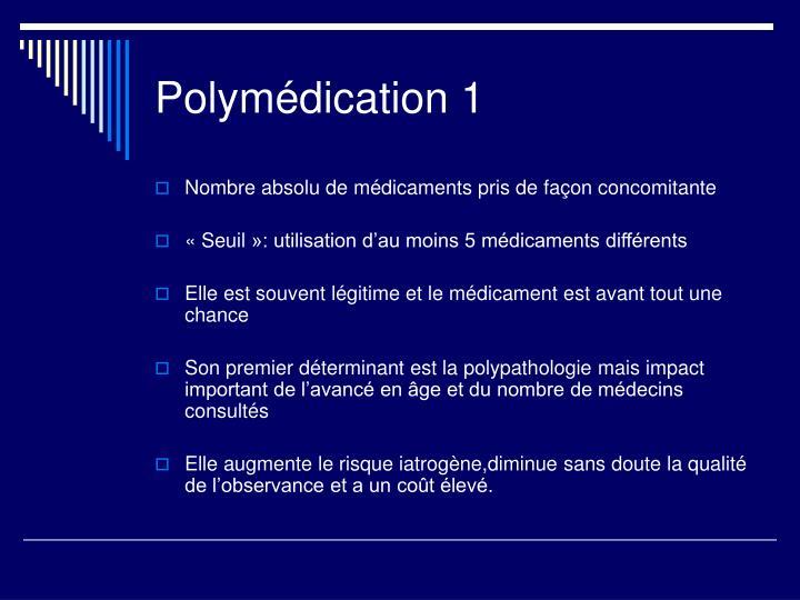 Polymédication 1