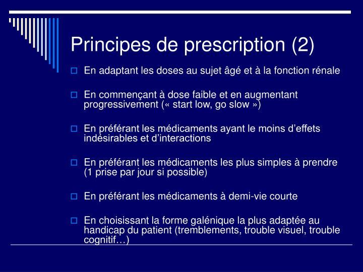 Principes de prescription (2)
