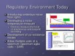regulatory environment today1