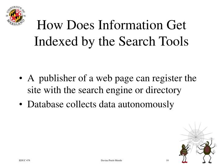 How Does Information Get Indexed by the Search Tools