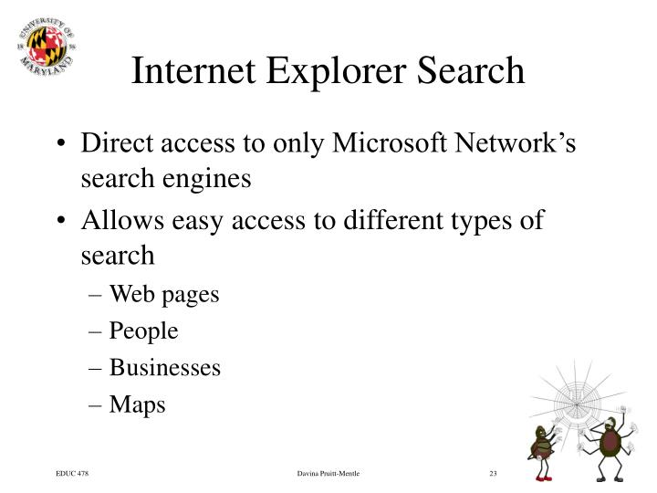 Internet Explorer Search
