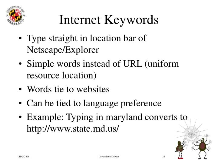 Internet Keywords