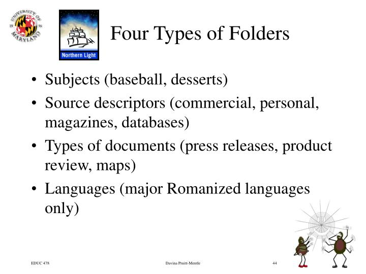 Four Types of Folders
