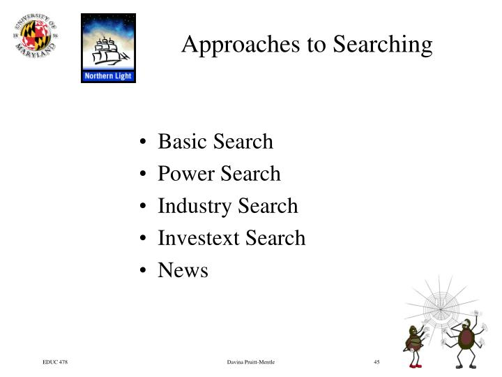 Approaches to Searching