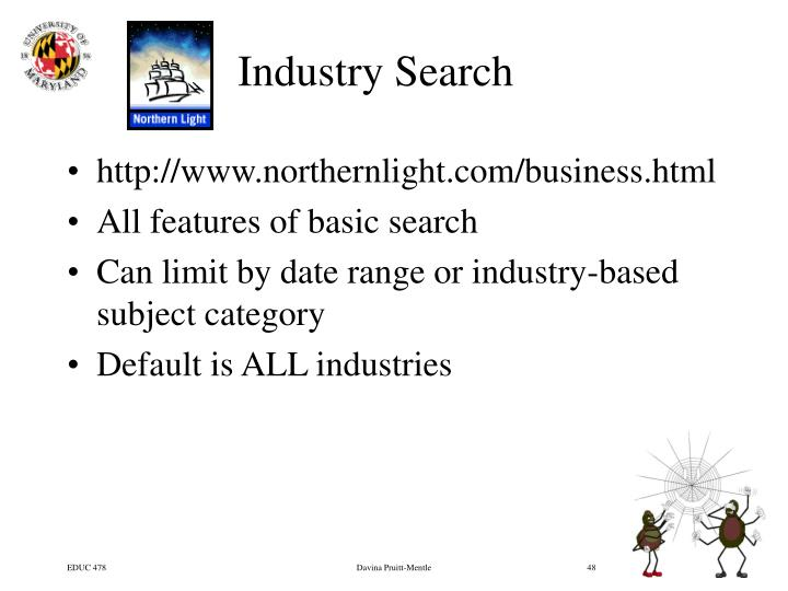 Industry Search