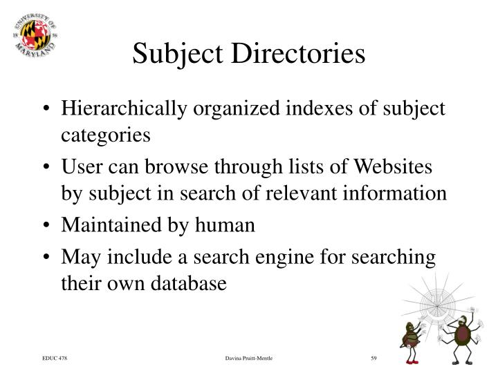 Subject Directories