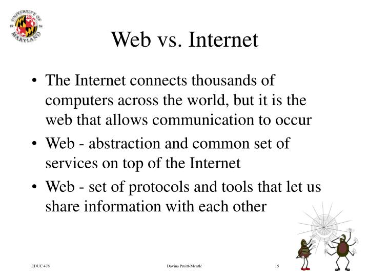 Web vs. Internet