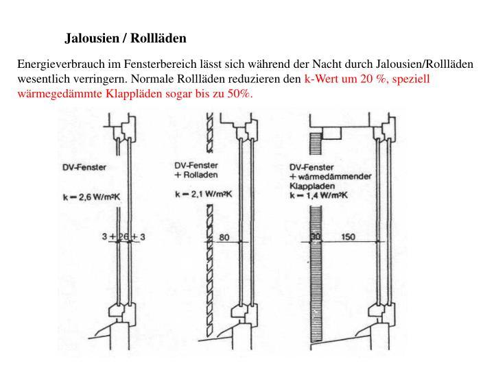 Jalousien / Rollläden