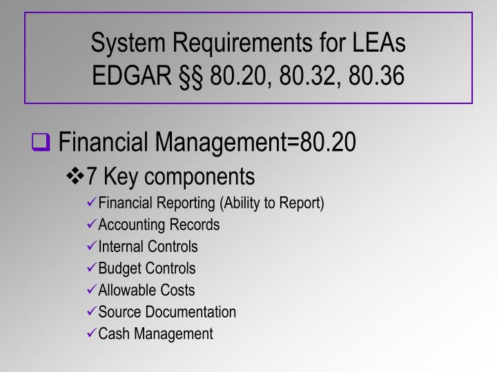 System Requirements for LEAs