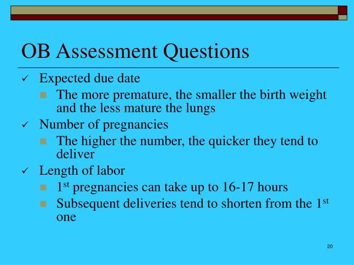 OB Assessment Questions