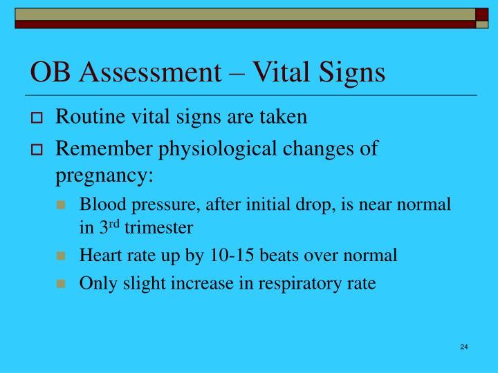 OB Assessment – Vital Signs