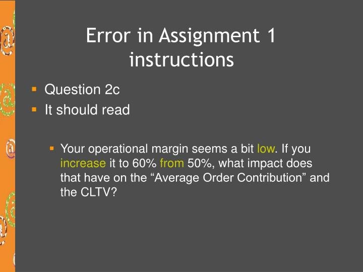 Error in assignment 1 instructions