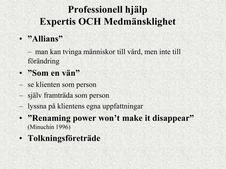 Professionell hjälp