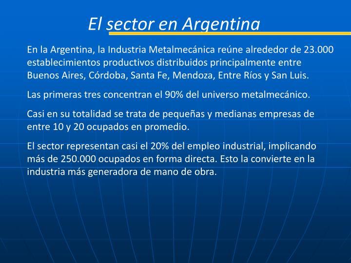 El sector en Argentina