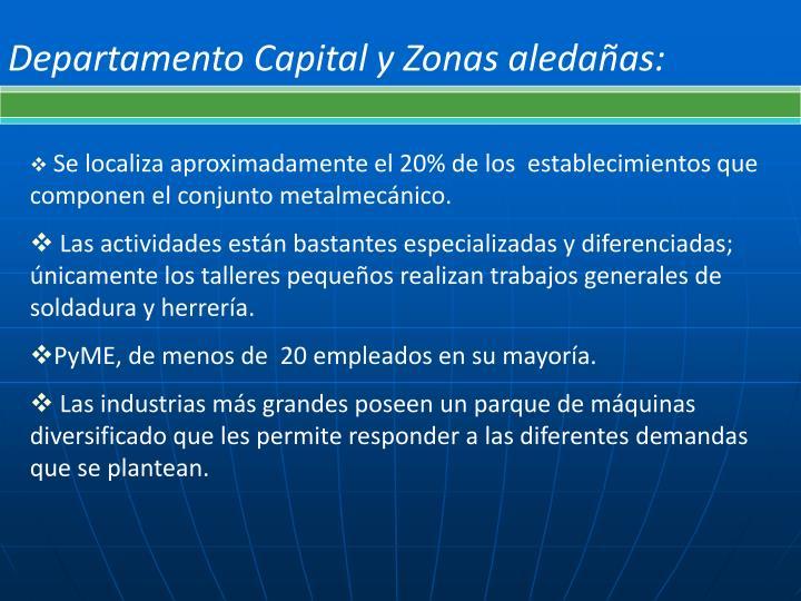Departamento Capital y Zonas aledañas: