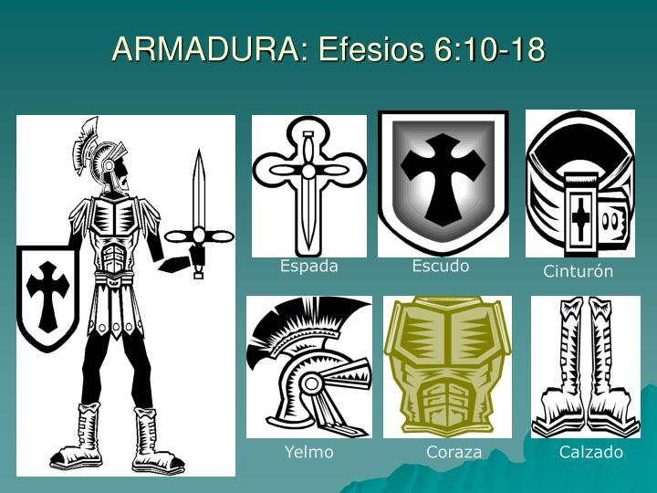 ARMADURA: Efesios 6:10-18