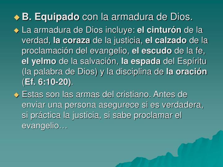 B. Equipado