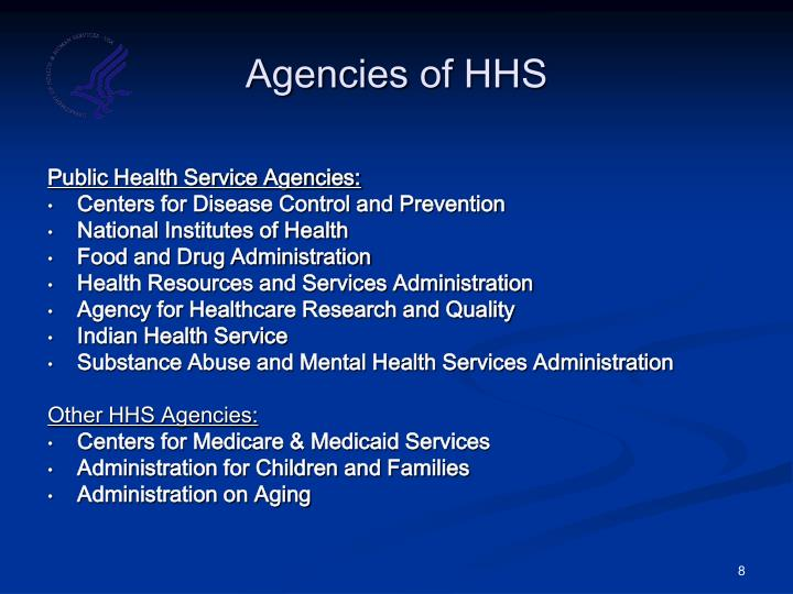 Agencies of HHS