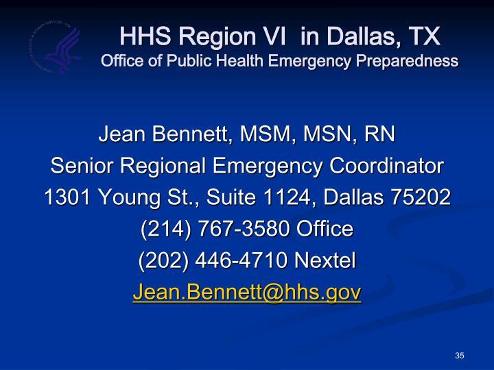 HHS Region VI  in Dallas, TX