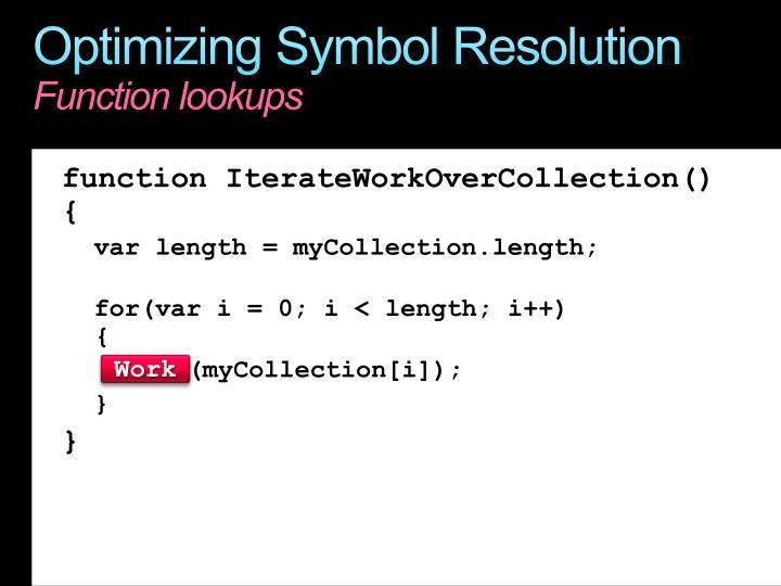 Optimizing Symbol Resolution