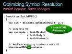 optimizing symbol resolution implicit lookups batch changes