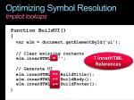 optimizing symbol resolution implicit lookups