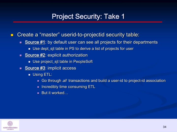 Project Security: Take 1