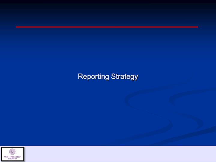Reporting Strategy