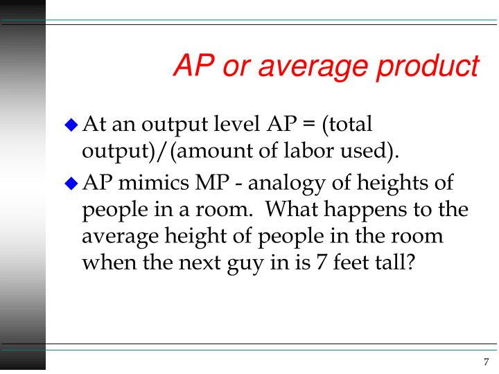 AP or average product