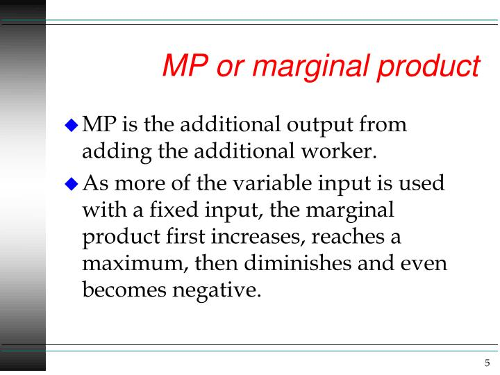 MP or marginal product