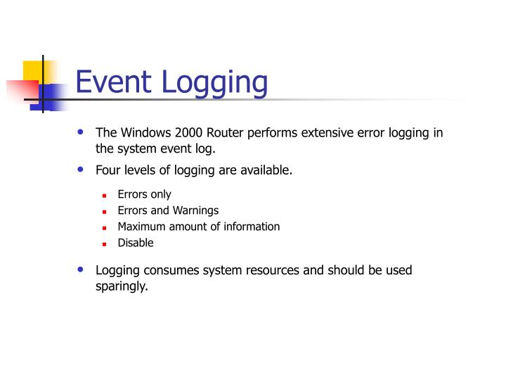 Event Logging