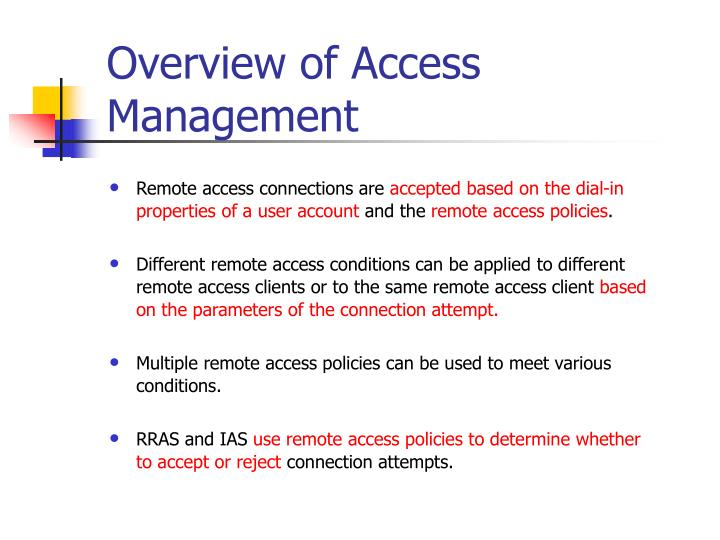 Overview of Access Management