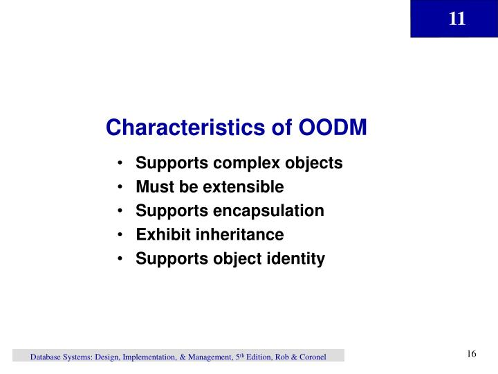 Characteristics of OODM