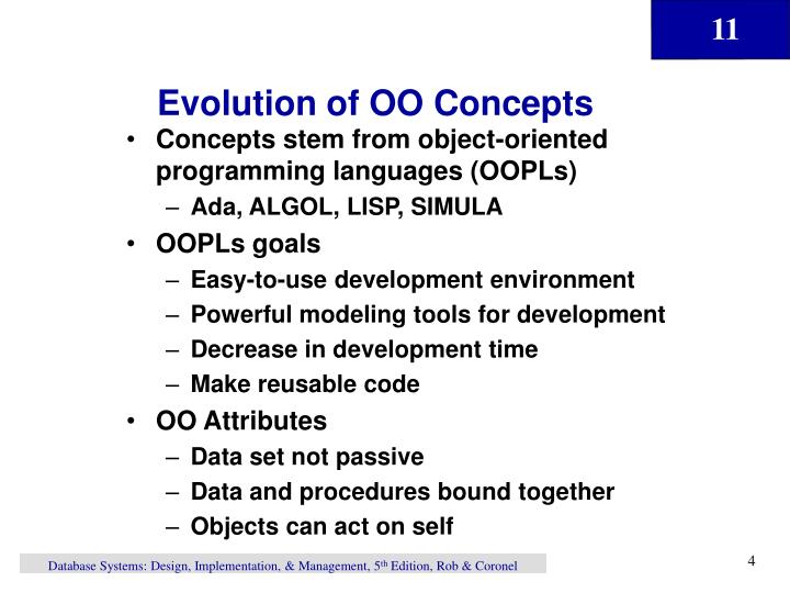 Evolution of OO Concepts