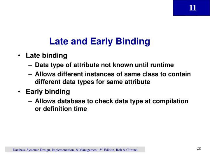 Late and Early Binding