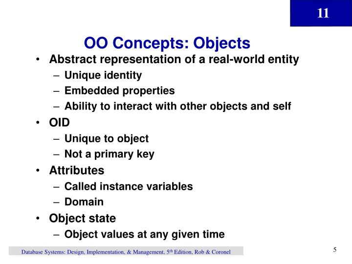 OO Concepts: Objects