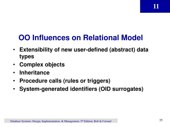 OO Influences on Relational Model