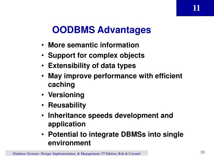 OODBMS Advantages