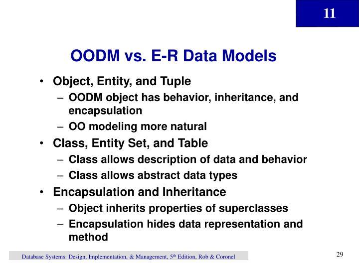 OODM vs. E-R Data Models