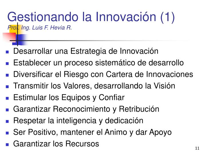 Gestionando la Innovación (1)