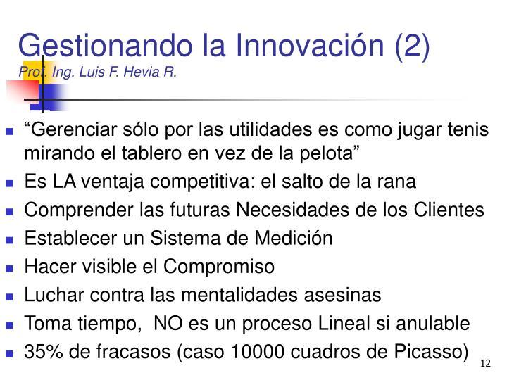 Gestionando la Innovación (2)