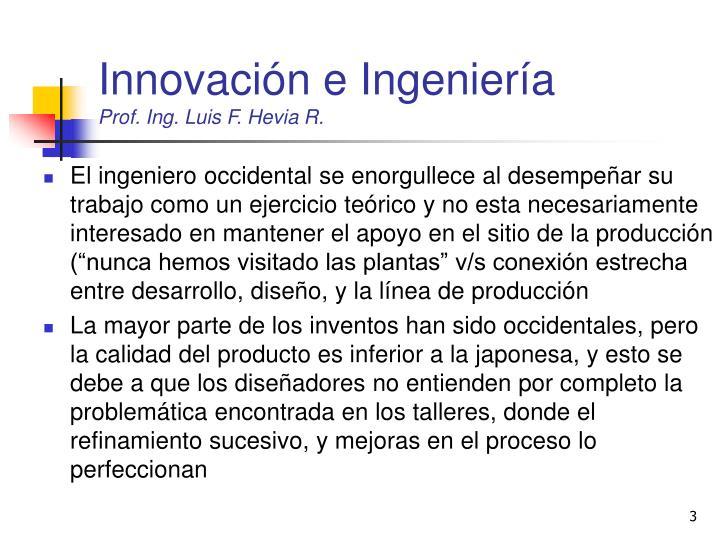 Innovación e Ingeniería