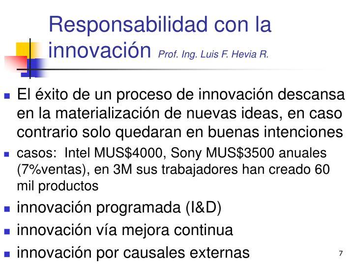 Responsabilidad con la innovación