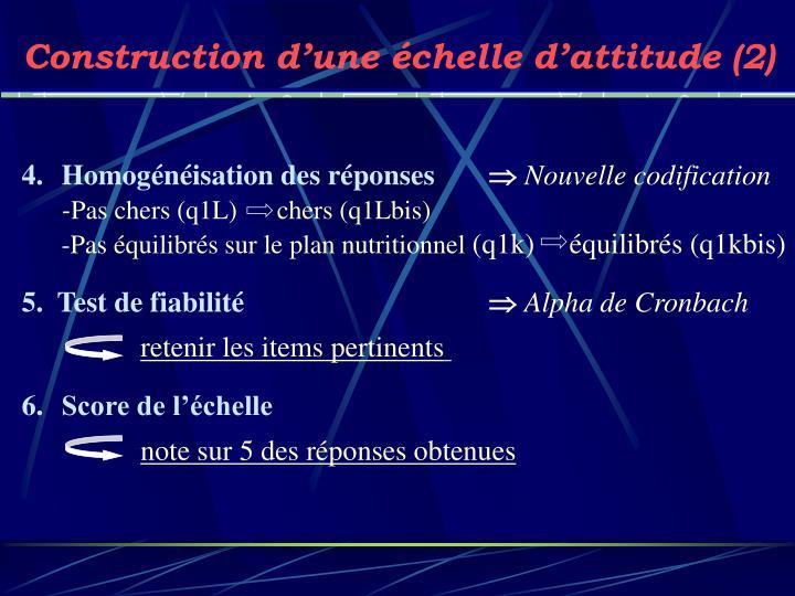 Construction d'une échelle d'attitude (2)
