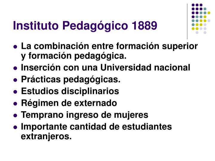 Instituto Pedagógico 1889