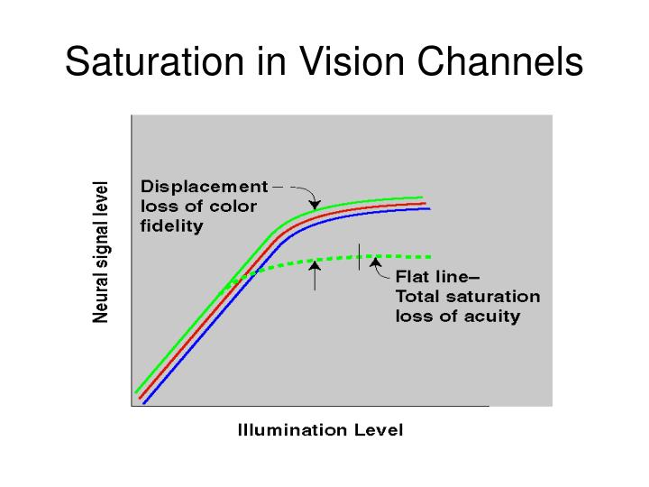 Saturation in Vision Channels
