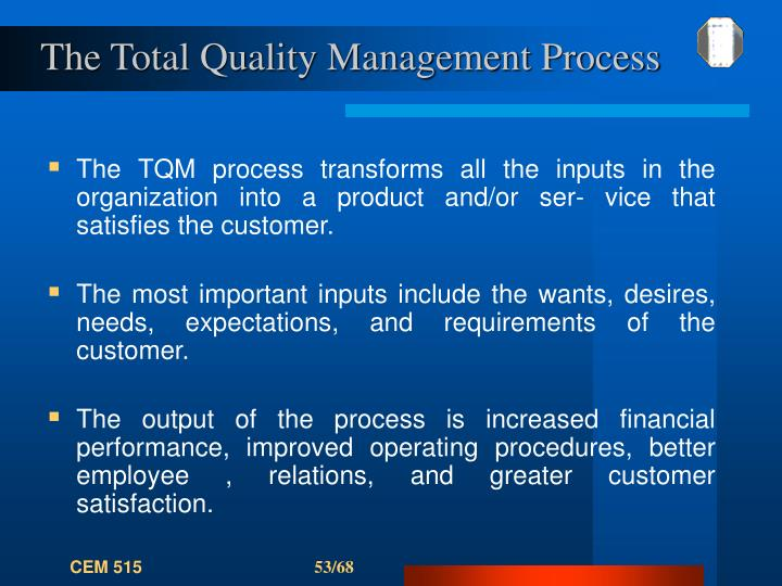 The Total Quality Management Process
