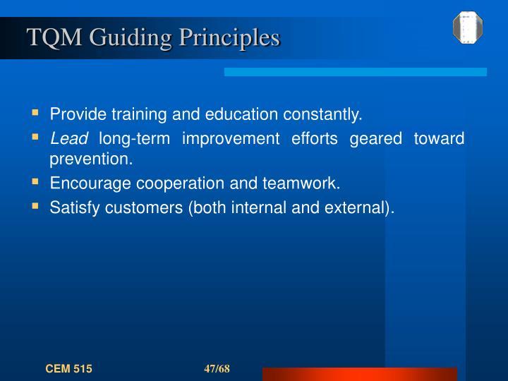 TQM Guiding Principles