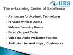 the e learning center of excellence
